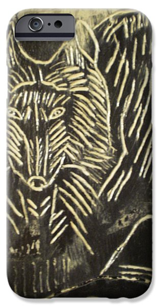 Animal Reliefs iPhone Cases - Spirit World On Black Osidian Carving Stone iPhone Case by Brunet Mario