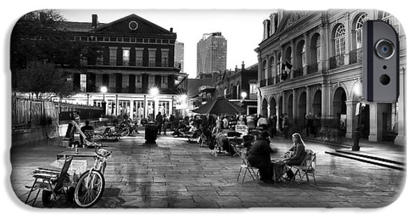 Fortune-teller iPhone Cases - Spirits in Jackson Square iPhone Case by John Rizzuto
