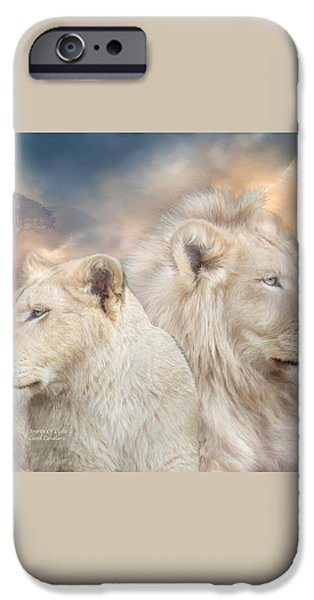 Spirits Of Light iPhone Case by Carol Cavalaris