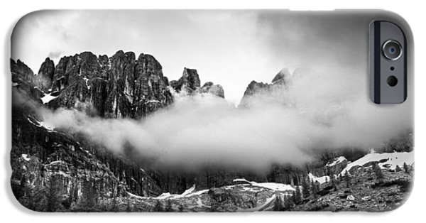 Clouds iPhone Cases - Spirits of the mountains iPhone Case by Yuri Santin