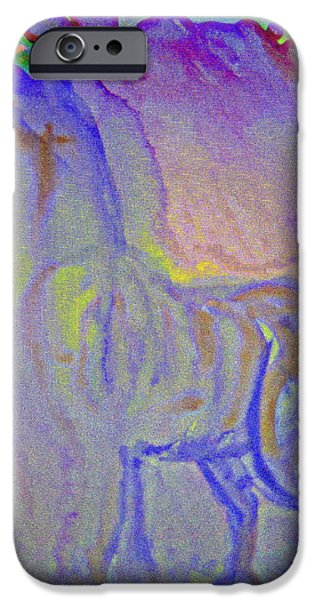 Biological Paintings iPhone Cases - Spiritual Again iPhone Case by Hilde Widerberg
