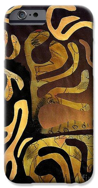 Sarah Loft iPhone Cases - Spiritual Drummer iPhone Case by Sarah Loft
