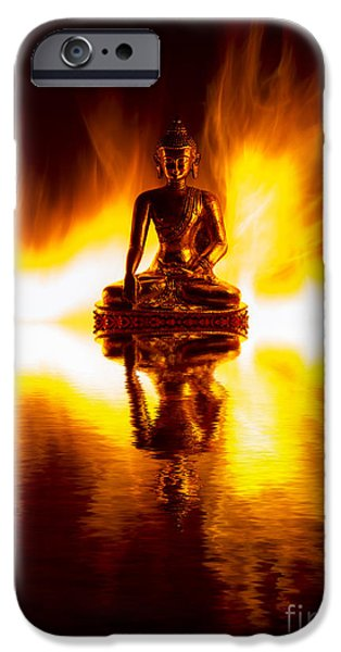Buddhism iPhone Cases - Spiritual Fire iPhone Case by Tim Gainey