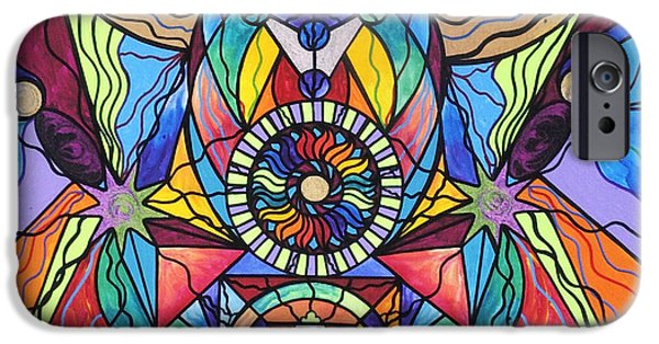 Healing Paintings iPhone Cases - Spiritual Guide iPhone Case by Teal Eye  Print Store