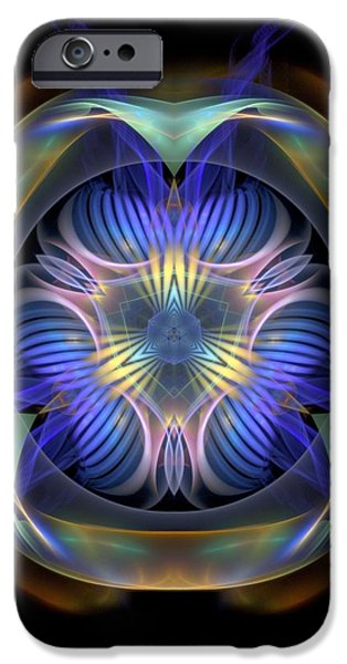 Waiter Mixed Media iPhone Cases - Spiritual-Panels-1-Left-or-RighBB iPhone Case by Bill Campitelle