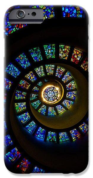 Spiritual Spiral iPhone Case by Inge Johnsson