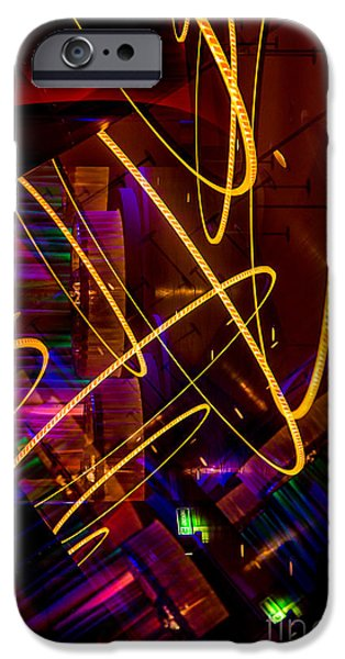 Abstract Digital Photographs iPhone Cases - Spirograph Vision 3 iPhone Case by Alanna DPhoto