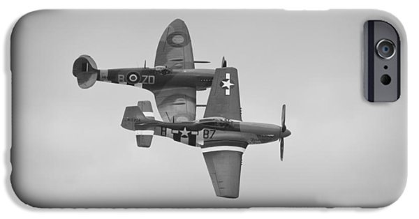Ferocious Frankie iPhone Cases - Spitfire and Mustang iPhone Case by Maj Seda