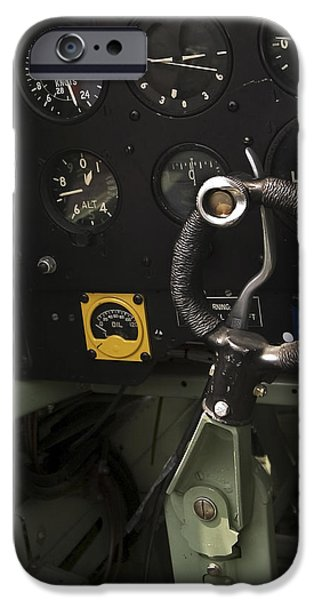 Flight iPhone Cases - Spitfire Cockpit iPhone Case by Adam Romanowicz