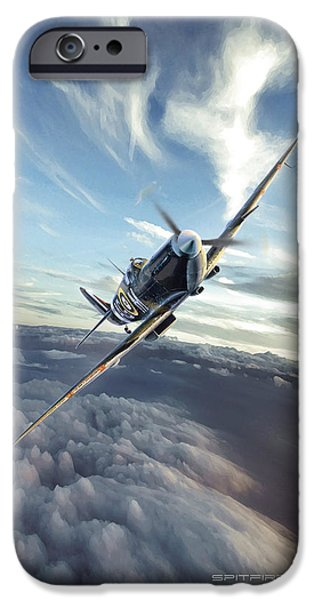 Wwi iPhone Cases - Spitfire Dawn iPhone Case by Peter Van Stigt