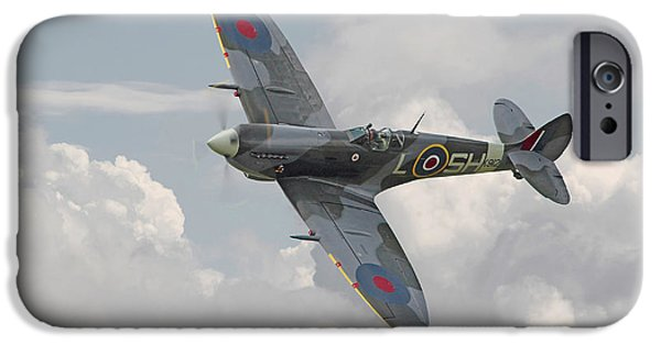 Classic Aircraft iPhone Cases - Spitfire - Elegant Icon iPhone Case by Pat Speirs