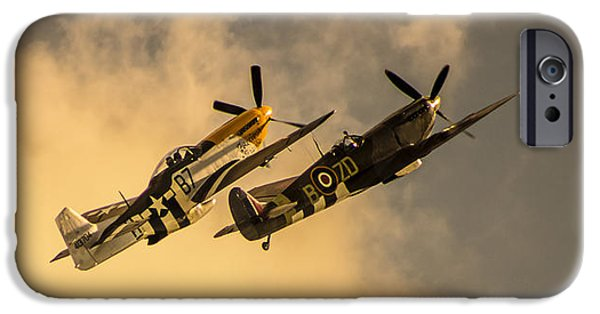 Cockpit Photographs iPhone Cases - Spitfire iPhone Case by Martin Newman