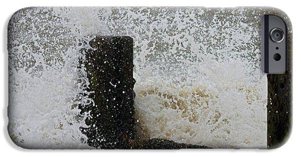 Beach Landscape iPhone Cases - Splash iPhone Case by Martin Newman