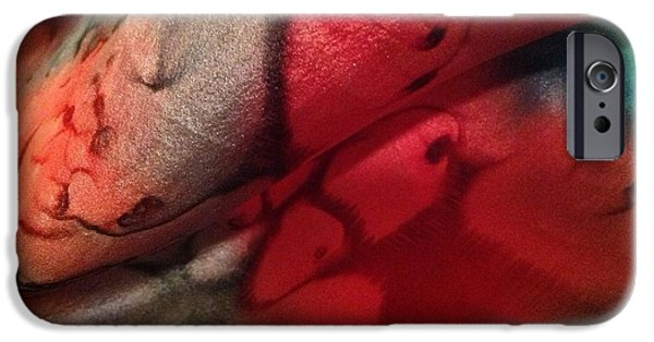 Abstracts Tapestries - Textiles iPhone Cases - Silk-11 iPhone Case by Julia Shapiro