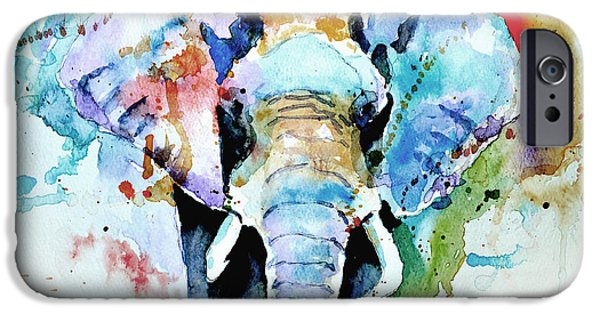 Portrait Paintings iPhone Cases - Splash of colour iPhone Case by Steven Ponsford