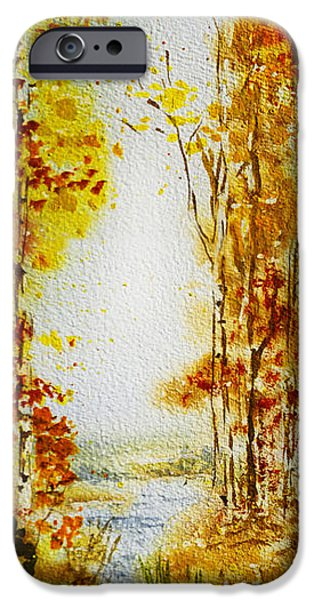 Fall Scenes iPhone Cases - Splash of Fall iPhone Case by Irina Sztukowski