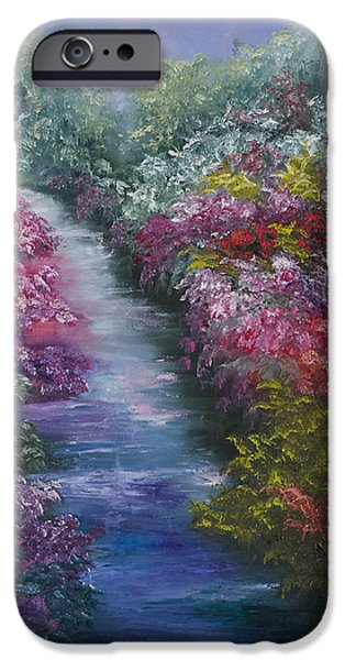 Impressionistic Landscape Paintings iPhone Cases - Splash Of Spring iPhone Case by Darice Machel McGuire