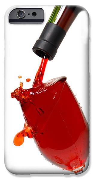 Mess iPhone Cases - Splash iPhone Case by Olivier Le Queinec