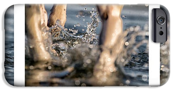 Black Dog iPhone Cases - Splash iPhone Case by Stylianos Kleanthous