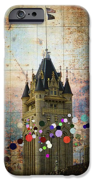 Public Jail iPhone Cases - Splattered County Courthouse iPhone Case by Daniel Hagerman