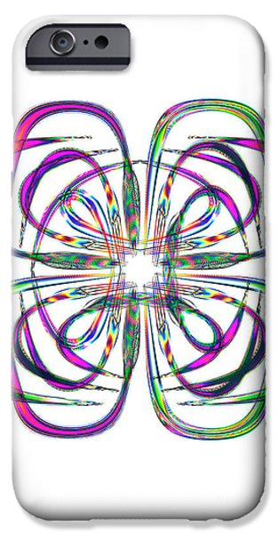 Abstract Digital Art iPhone Cases - Splendid iPhone Case by Steve Purnell