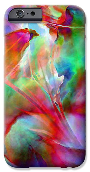 Flowers On Canvas Art iPhone Cases - Splendor - Abstract Art iPhone Case by Jaison Cianelli