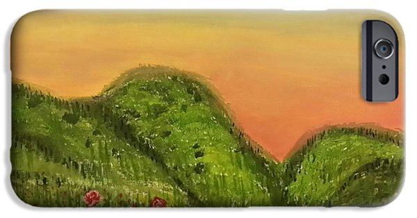 Mounds iPhone Cases - Splendour In The Grass iPhone Case by Debra Acevedo