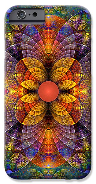 Split Crops Fractal iPhone Case by Peggi Wolfe