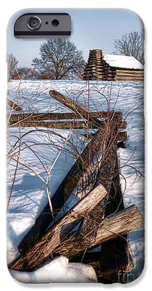 Split Rail and Nation iPhone Case by Olivier Le Queinec