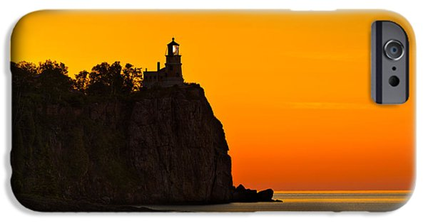 Lighthouse iPhone Cases - Split Rock Lighthouse iPhone Case by Steve Gadomski