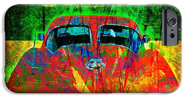 Gary Grayson iPhone Cases - Split Window Corvette iPhone Case by Gary Grayson