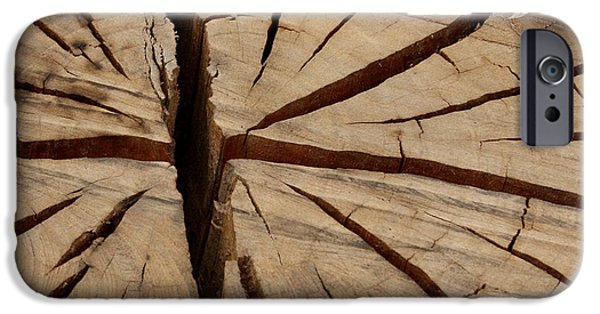 Circular Saw iPhone Cases - Split Wood iPhone Case by Art Block Collections