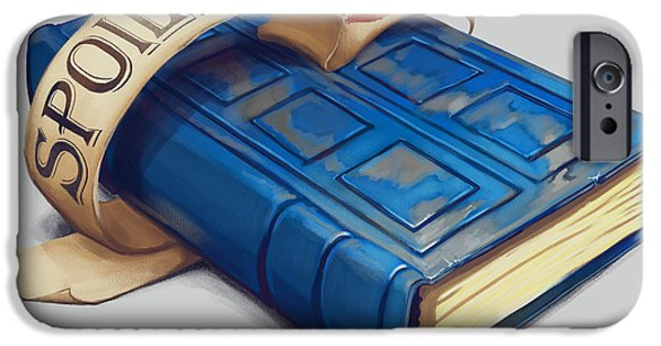 Dr Who iPhone Cases - Spoilers- River Songs Tardis Journal iPhone Case by Dorianne Dutrieux