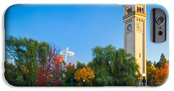 Spokane iPhone Cases - Spokane fall colors iPhone Case by Inge Johnsson