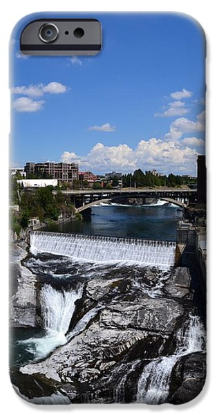 Spokane Falls and Riverfront iPhone Case by Michelle Calkins