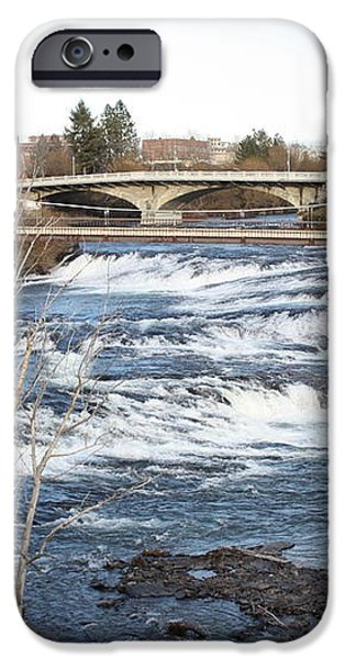 Spokane Falls in Winter iPhone Case by Carol Groenen