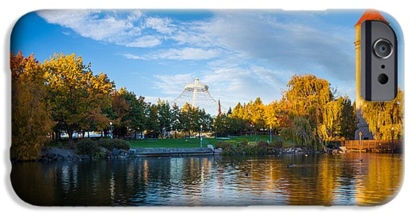 Spokane iPhone Cases - Spokane Reflections iPhone Case by Inge Johnsson