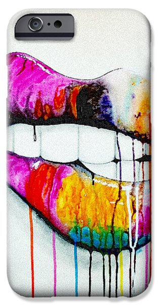 Lips iPhone Cases - Spontaneous iPhone Case by Kyle  Brock