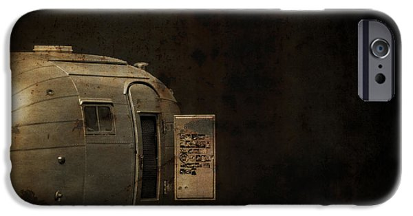 Creepy iPhone Cases - Spooky Airstream Campsite iPhone Case by Edward Fielding