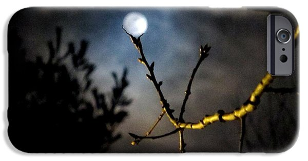 Eerie iPhone Cases - Spooky Moon iPhone Case by Donnie Freeman