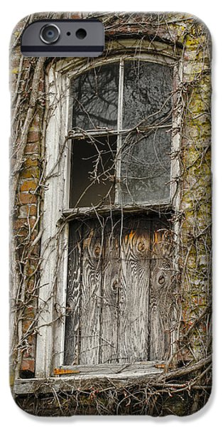 Boarded Up iPhone Cases - Spooky Window iPhone Case by Jean Noren