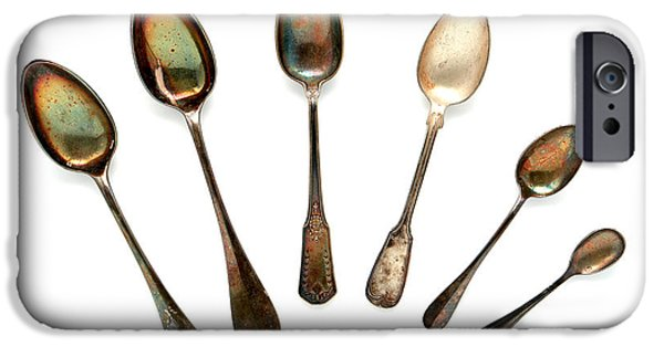 Spoon iPhone Cases - Spoons iPhone Case by Olivier Le Queinec