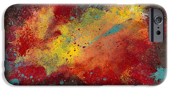 Abstract Digital Paintings iPhone Cases - Sporadic Corruption 2 iPhone Case by Craig Tinder