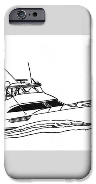 Sport Fishing Yacht iPhone Case by Jack Pumphrey