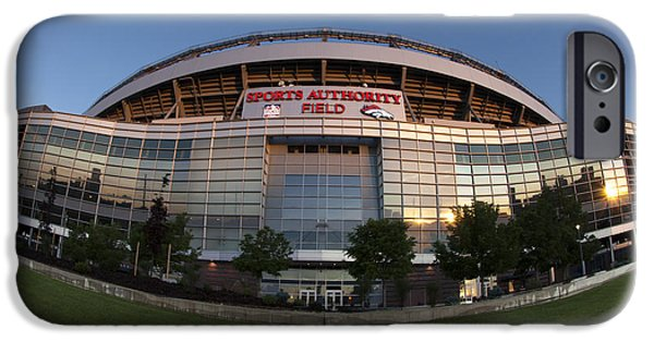 Venue iPhone Cases - Sports Authority Field at Mile High iPhone Case by Juli Scalzi