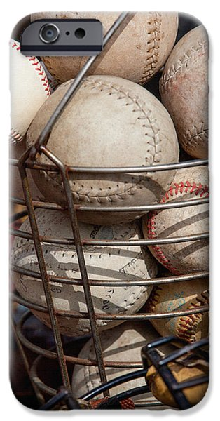 Basket Ball Game iPhone Cases - Sports - Baseballs and Softballs iPhone Case by Art Block Collections