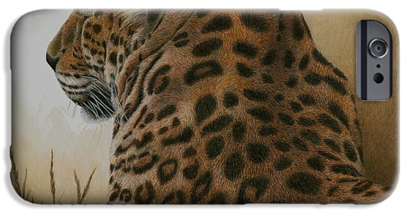 Wild Cats iPhone Cases - Spotted Elegance iPhone Case by Pat Erickson