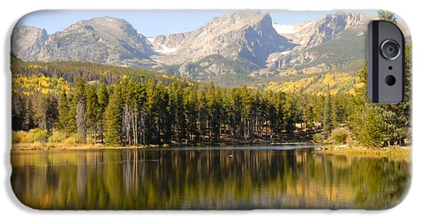 Forest iPhone Cases - Sprague Lake 2 iPhone Case by David Drew