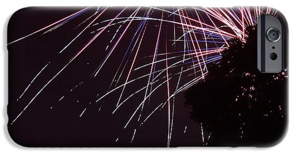 Fireworks iPhone Cases - Spray of Color in the Nighttime Sky iPhone Case by Andrea McClinnis