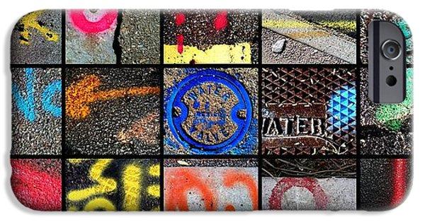 Asphalt iPhone Cases - Spray Of Color iPhone Case by Marlene Burns